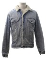 Mens Thrashed Grunge Denim Jacket