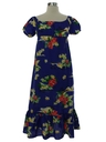 Womens/Girls A-Line Hawaiian Muu Muu Dress