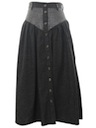 Womens Denim Western Skirt