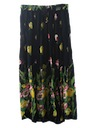 Womens Hippie Broom Stick Skirt