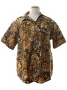 Mens Animal Print Safari Shirt