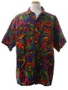 Mens Hawaiian Style Print Sport Shirt