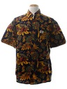 Mens Retro Print Hawaiian Shirt