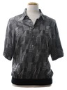Mens Print Golf Resort Wear Shirt