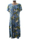 Womens A-line Hawaiian Maxi Dress
