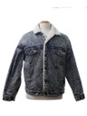 Mens Lined Acid Washed Denim Jacket