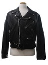 Mens Leather Motorcycle Biker Jacket
