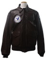 Mens A2 Airforce Leather Bomber Flight Jacket