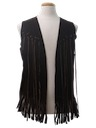 Unisex Suede Leather Fringed Hippie Vest