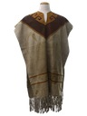 Unisex Suede Leather Fringed Hippie Poncho Jacket