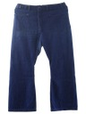 Mens Navy Style Bellbottom Jeans Pants