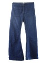 Mens Navy Issue Bellbottom Jeans Pants