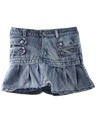 Womens Totally 80s Acid Washed Denim Mini Skirt
