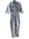 Womens Totally 80s Acid Washed Denim Jumpsuit