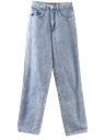 Womens Wicked 90s Acid Wash Jeans Pants