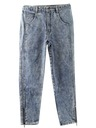 Womens Totallly 80s Acid Wash Jeans Pants