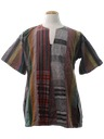 Unisex Hippie Patchwork Tunic Shirt