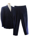 Mens Pinstriped Wool Suit