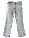 Mens Wicked 90s Acid Washed Jeans Pants