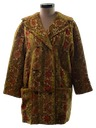 Womens Mini Tapestry Coat Jacket