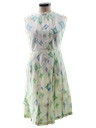 Womens Print Day Dress