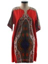 Womens Dashiki Hippie Dress