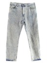 Mens Acid Washed Jeans Pants