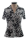Womens Resort Wear Print Disco Shirt