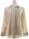 Mens Slinky Nylon Solid Disco Shirt