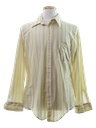 Mens Slinky Nylon Print Disco Shirt