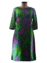 Womens Mod A-Line Day Dress