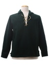 Mens Hippie Style Wool Shirt