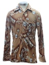 Mens/Boys Print Disco Shirt