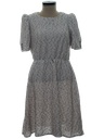 Womens Totally 80s Knit Dress