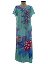 Womens Maxi Muu Muu Hawaiian Dress