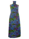 Womens Maxi Hawaiian Halter Dress