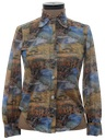 Womens Photo Print Disco Shirt