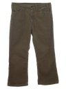 Mens Jeans-Cut Corduroy Flared Pants