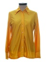 Womens Solid Slinky Nylon Disco Shirt