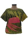 Womens Totally 80s Hippie Style Shirt