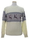 Mens Totally 80s Reindeer Ski Sweater