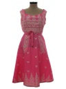 Womens Wrap Apron Hippie Dress