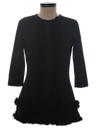 Womens Mod Little Black Mini Dress