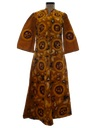 Womens Flared Hippie Maxi Dress