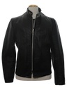 Mens Leather Cafe Racer Style Motorcycle Jacket