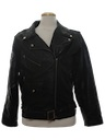 Mens Totally 80s Leather Motorcycle Biker Jacket