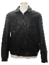 Mens Leather Totally 80s Motorcycle Style Biker Jacket