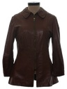 Womens Designer Leather Coat Jacket