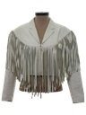 Womens Totally 80s Leather Fringe Jacket