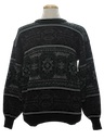 Mens Totally 80s Cosby Style Pullover Sweater
